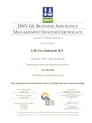 Lift-Tex DNV ISO9001